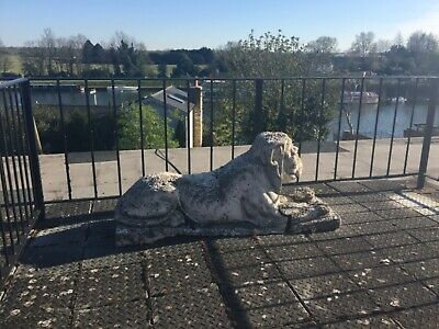 Impressive Old French Lion statue weathered Large