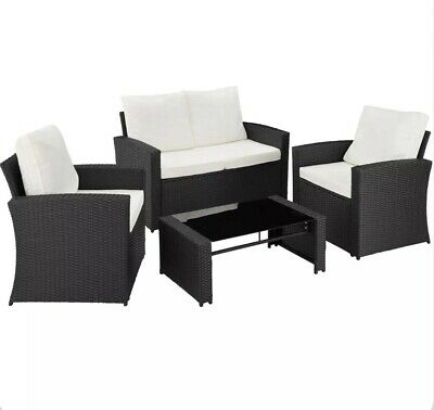 Outdoor Rattan 4 Set Sofa Table Garden Furniture Lounge Patio Summer Chair New