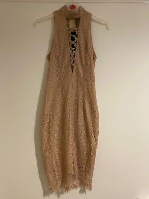 Pretty Little Thing Size 6 Dusty Pink Dress NEW