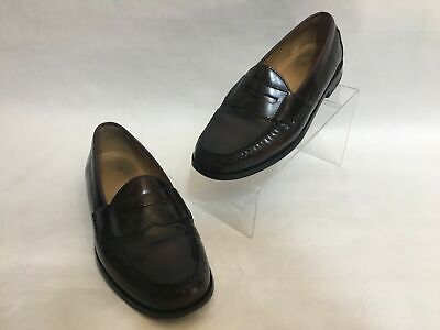 Cole Haan Pinch Penny Loafers Burgundy Leather Dress Shoes Mens Size 8 1/2 D