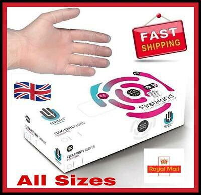 Medical Disposable Powder Free Latex Vinyl Protective Gloves Tattoo Food Home UK
