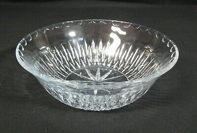 """Waterford Giftware Cut Crystal Tapered Bowl with Scalloped Edge 9"""""""