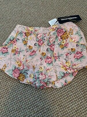Rock Your Kid Eileen Puffer Shorts Size 8 NWT