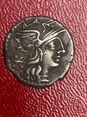 132 B.C. Ancient P. Maenius Antiaticus Silver Denarius 18.86 Mm 3.8 Gr