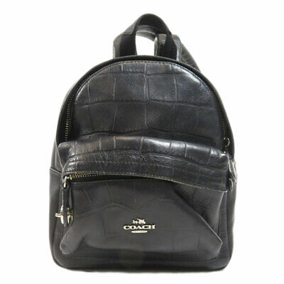 COACH  37713 Backpack  Daypack Logo mini canvas embossed Leather