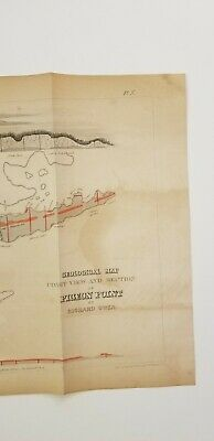 Owen 1852 Geological Map Coast View and Section of Pigeon Point