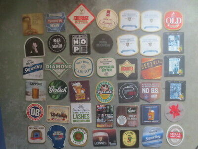 42 different BEER COASTERS mainly Australian coasters collectable ALL FOR $4