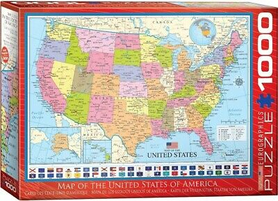 EG60000788 - Eurographics Puzzle 1000 Pc - Map of the United States