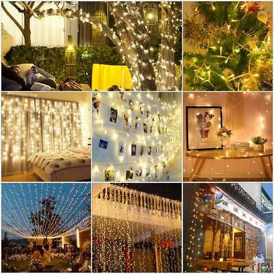 100LED 10M Christmas Tree Fairy String Party Lights Xmas Waterproof Color Lamp