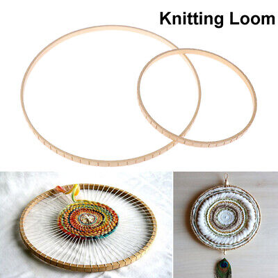 Round Wooden Knitting Loom Craft DIY Weaving Tool for Handmade Wall Hang_AUCH-W