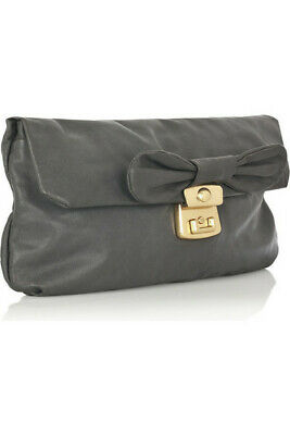 Marc by Marc Jacobs- Linda bow-embellished leather clutch