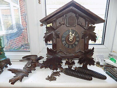 Large Antique Black Forest German Cuckoo Clock