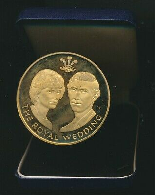 Great Britain: 1981 Charles & Dianna Royal Wedding Official Large Medal 56mm