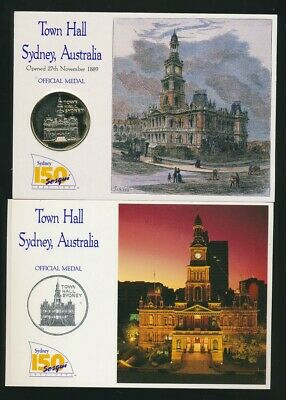 Australia 1992 Sydney Town Hall Official Medal with Postcards (32mm)