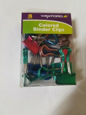 *60 Office Binder Clips!* Bundle 5 Boxes Wexford Mini Binder Clips 12 per box *
