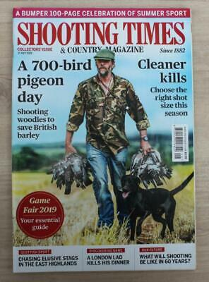 Shooting times -17 July 2019-Highland Stags-Pigeons