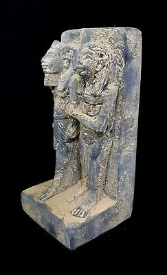 Large statue Ancient Egyptian king and his wife Antique Antiquities Tutankhamun