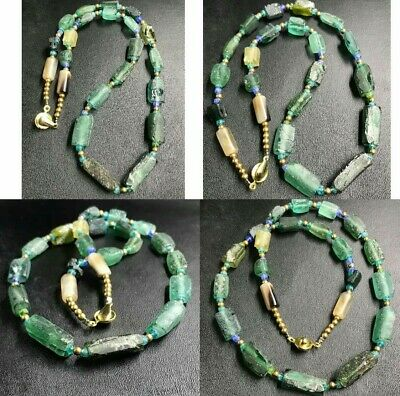 Wonderful Ancient old Roman Glass Beads Very Rare Beads necklace