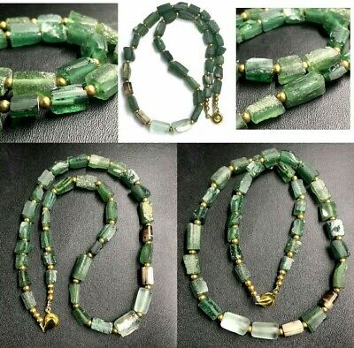 Amazing lovely Ancient very old Roman Glass Beads Very Rare Beads necklace
