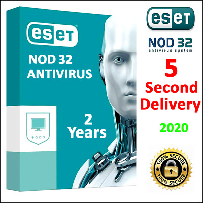 ESET NOD32 Antivirus 13- 2020 key activation, 2 year, 5 Second delivery