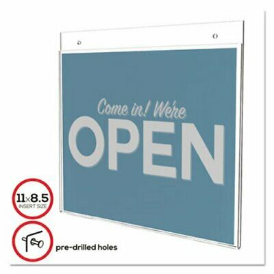Deflect-o Classic Image Single-Sided Wall Sign Holder, 11 x 8 1/2 (DEF68301)