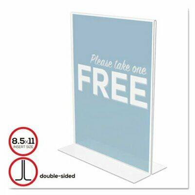 Deflect-o Stand-Up Double-Sided Sign Holder, Plastic, 8 1/2 x 11 (DEF69201)