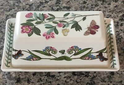 PORTMEIRION Botanic Garden Covered Butter Dish- Rhododendron