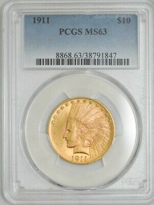 1911 $10 Gold Indian MS63 PCGS 942892-4
