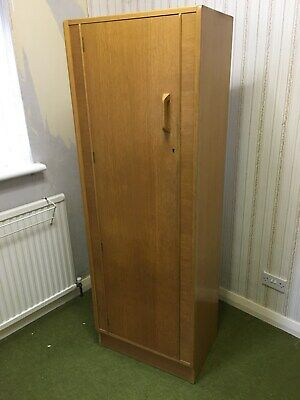 """G-plan"" single wardrobe - varnished oak colour"