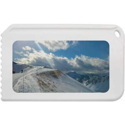 'Ski Run & Snowy Mountains' Plastic Ice Scraper (IC00003809)