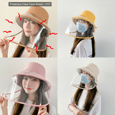 Fisherman Cap Removable Protective Clear Face Shield Saliva-proof Dust-proof Hat
