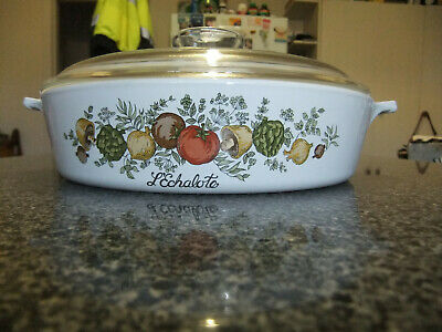SPICE OF LIFE CORNING WARE BUFFET SERVER WITH HANDLE & LID, 22cm