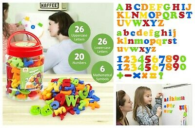 72 Jumbo Magnetic Letters Numbers Alphabet Number Fridge Magnet Kids Toy Gifts