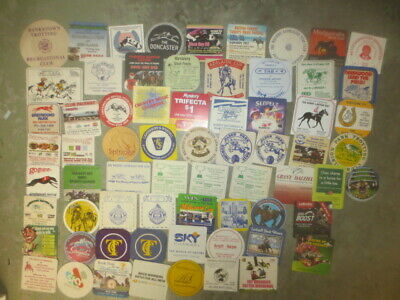66 different HORSE ,DOGS ,RACING Australian Issued Advertising COASTERS