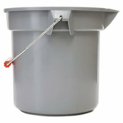 Rubbermaid 2614 Brute Round 14 Quart Bucket, Gray (RCP 2614 GRA)