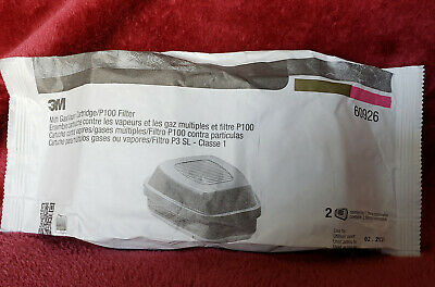 3M 60926 Multi Gas Vapor Cartridge Filter - 2 Pieces EXP 02/2025 New in package.