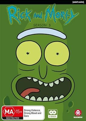 Rick And Morty : Season 3 (DVD, 2018, 2-Disc Set) - NEW / SEALED - REGION 4