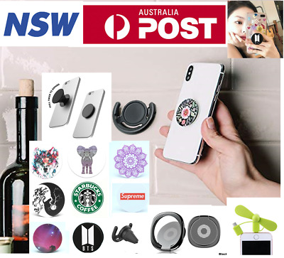 3 in 1 Portable Fan Pop Holder Phone Grip Phone Holder Air Mount Phone Ring