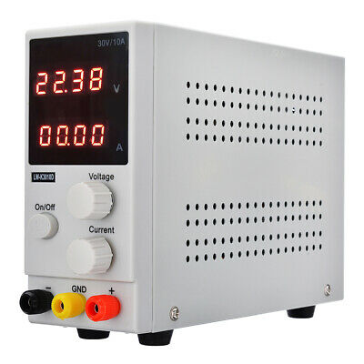 30V 10A Adjustable Switching Regulated Power Supply Dual Digital Display uk