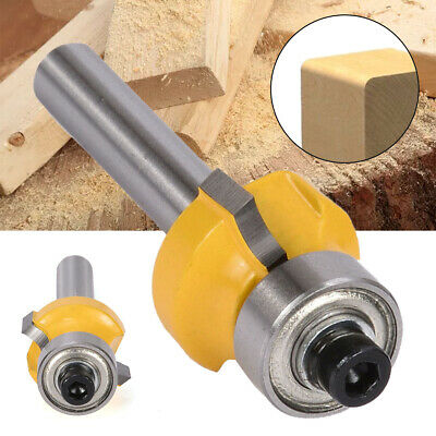 "1/4"" Shank Round Over Edging Router Bits 1/8"" Radius Carbide Cutter Woodworking"