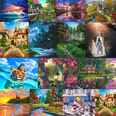 Paint by Numbers Kits DIY Family Game Patience Oil Painting Art Paint Home Decor