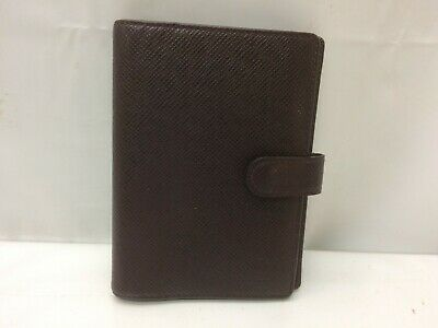 Auth Louis Vuitton Taiga Agenda PM Day Planner Cover 9A230210g""