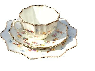 Paragon Star English Bone China Tea Cup Saucer + Plate Trio antique vintage