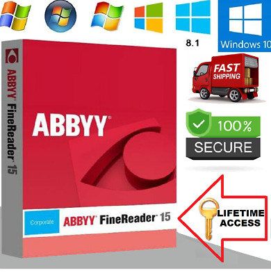 ABBYY FineReader 15 CORPORATE🔥OCR PDF EDITOR SCANNER🔥LIFETIME🔥Fast Delivery✔️