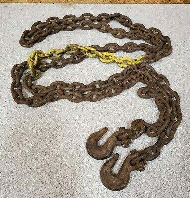 Vintage 8' Log Chain with Hooks,Small link,5 lb. Upcycle Decor