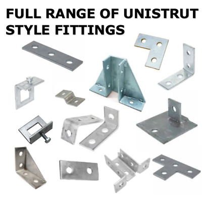 Unistrut style Channel strut accessories HOT DIpped Galv outdoor support strut
