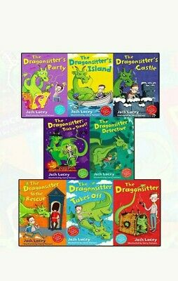 The Dragonsitter series Josh Lacey Collection 8 Books Set Children's pack NEW
