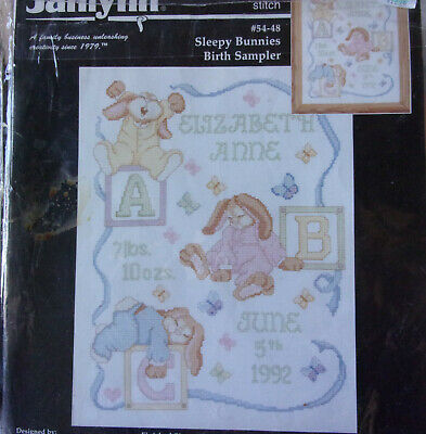 Cross Stitch Kit ~ Dimensions Wild Thing Baby Birth Record #73250 OOP SALE!