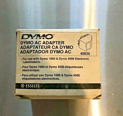 Dymo AC Adapter For Use w/DYMO 1000 & Dymo 4500 Electronic Labelmakers
