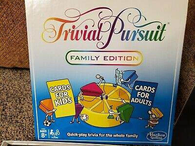 Trivial Pursuit Family Edition Quick Pace Fun Party Board Game Hasbro E1924